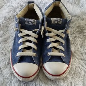 Converse denim high top sneakers